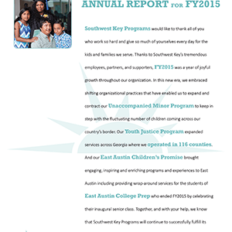 Southwest Key Annual Report 2015