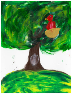 Large tree painting by youth
