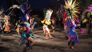 People performing a native dance