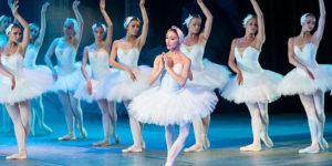 Ballerinas during a performance