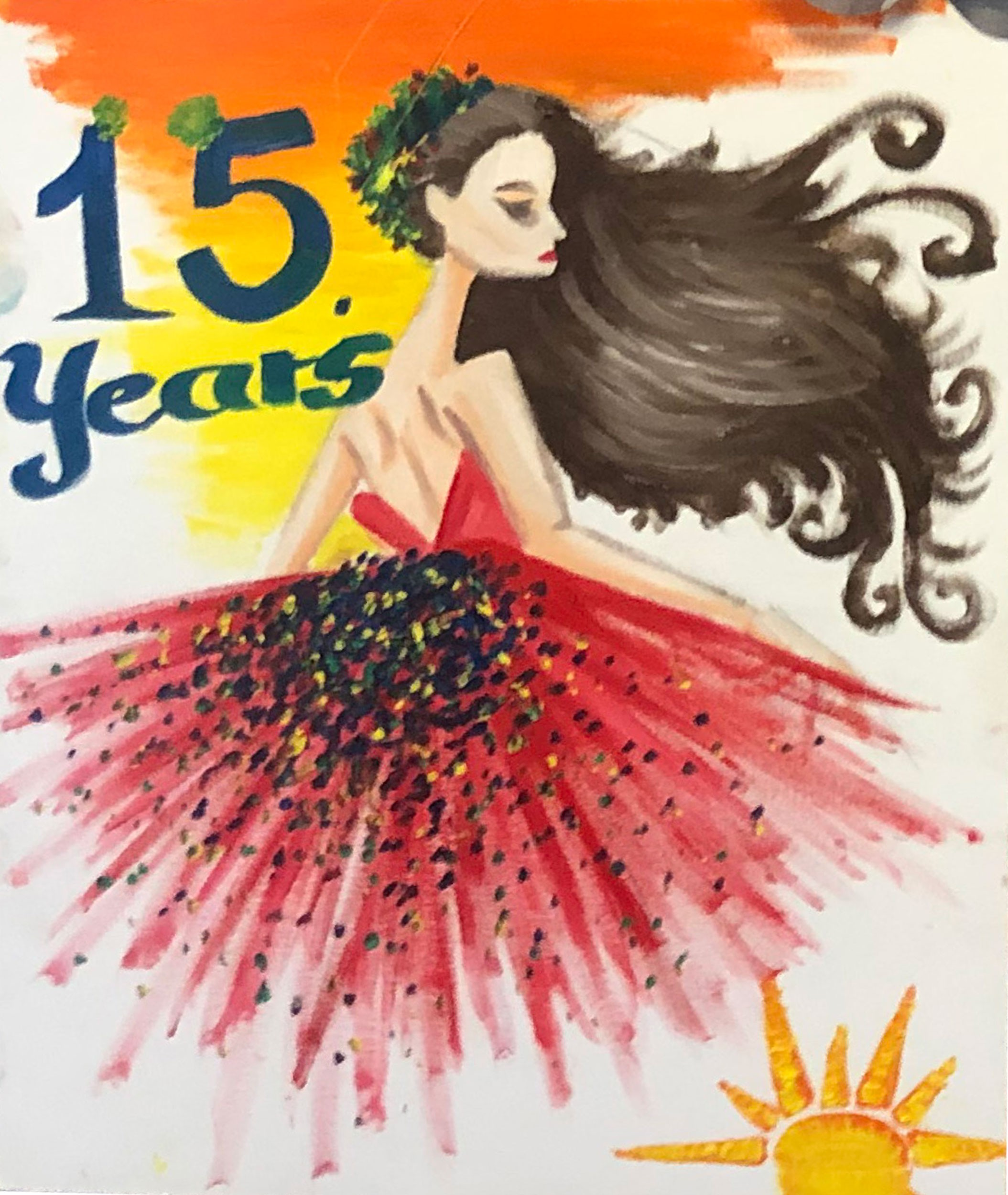 Art by SWK youth celebrating a quinceanera
