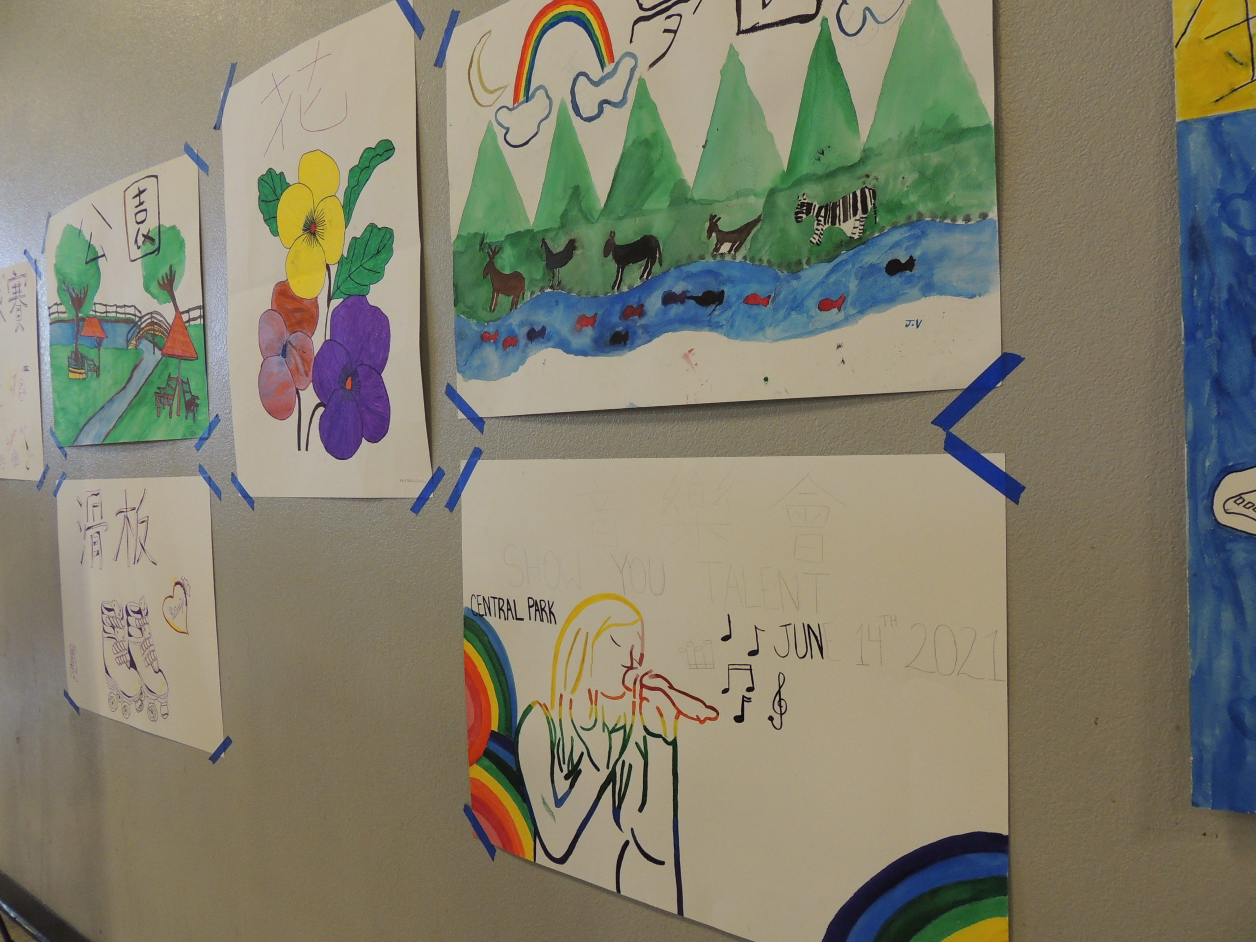 Art created by youth in collaboration with Free Arts