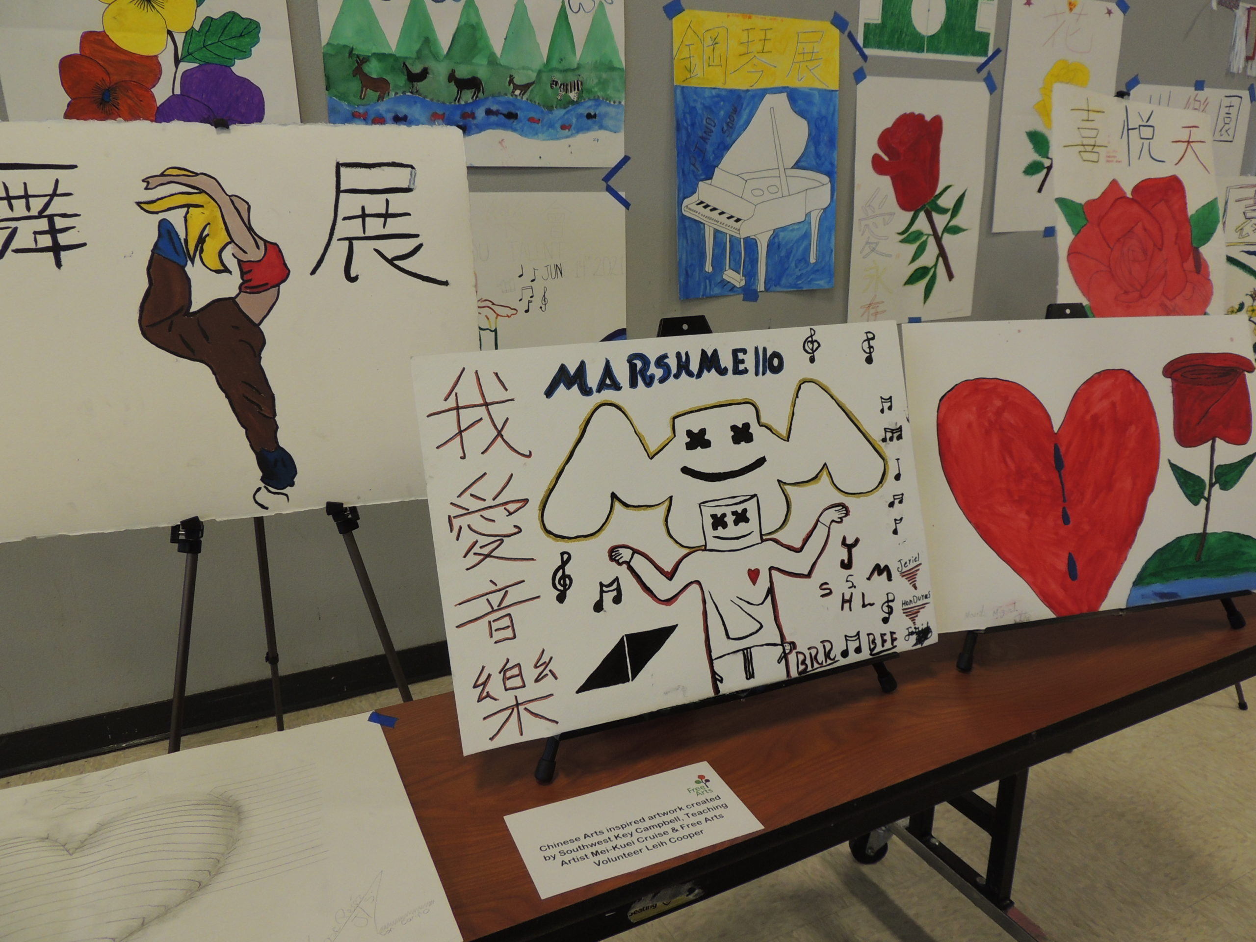 Youth art created in collaboration with Free Arts
