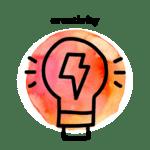 creativity watercolor icon