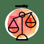 morality watercolor icon