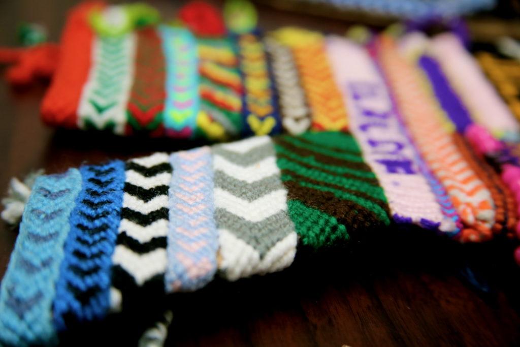 a variety of woven fabrics