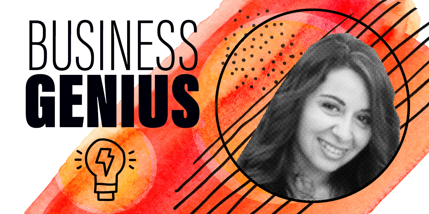Lessons from a Business Genius graphic
