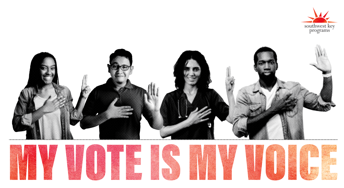 My vote is my voice graphic