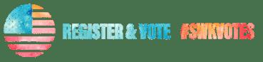 Register and vote graphic