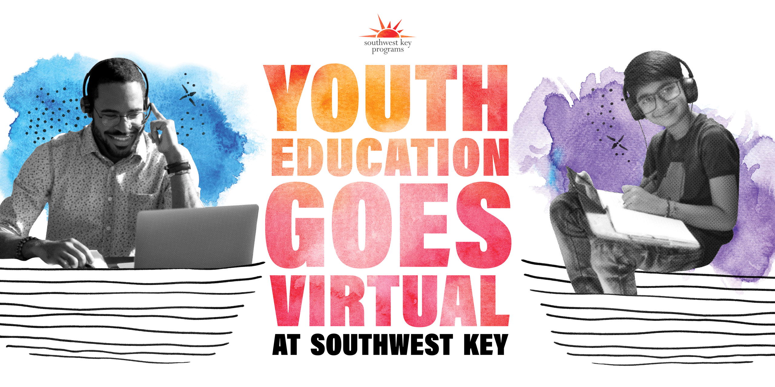 Education goes virtual graphic
