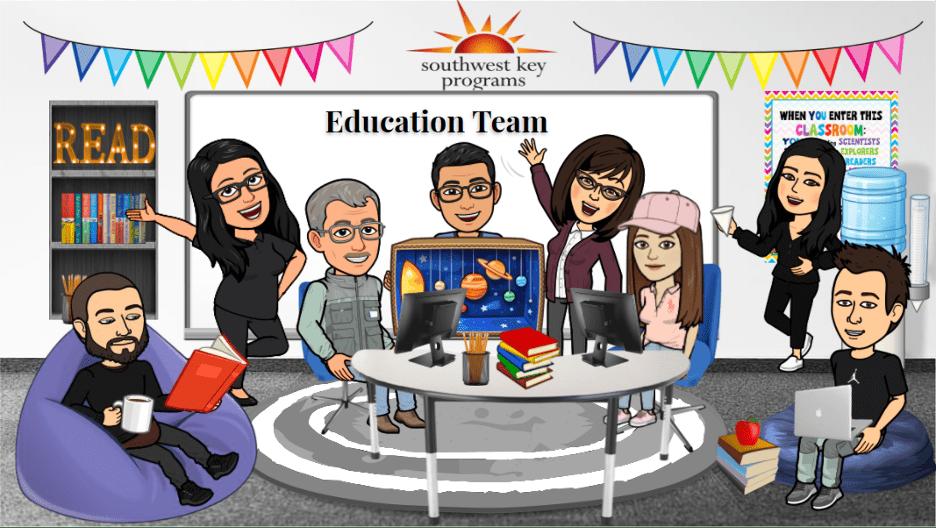 Education team bitmoji avatars