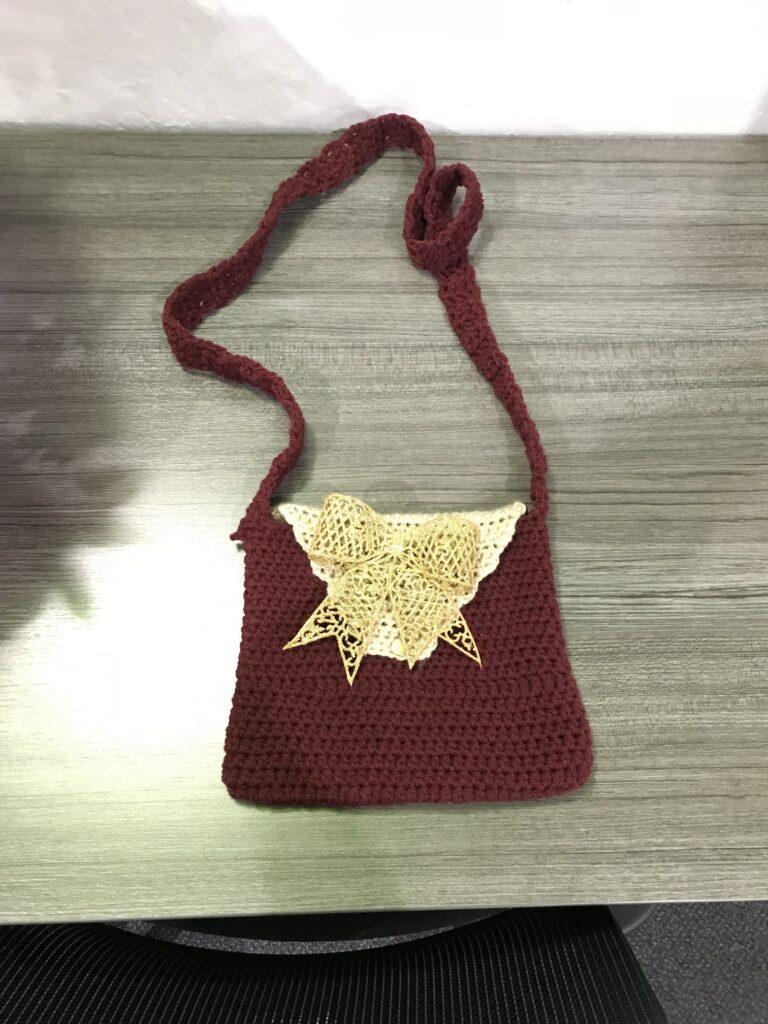 Crotchet handbag made at Casa Pleasant Hill