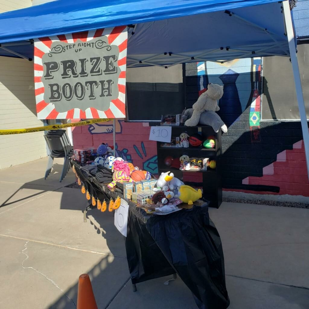 Prize Booth at Casa Lighthouse Carnivale