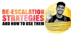 De-escalation strategies graphic