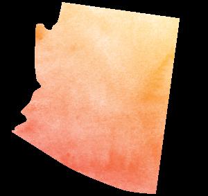 Arizona icon in watercolor