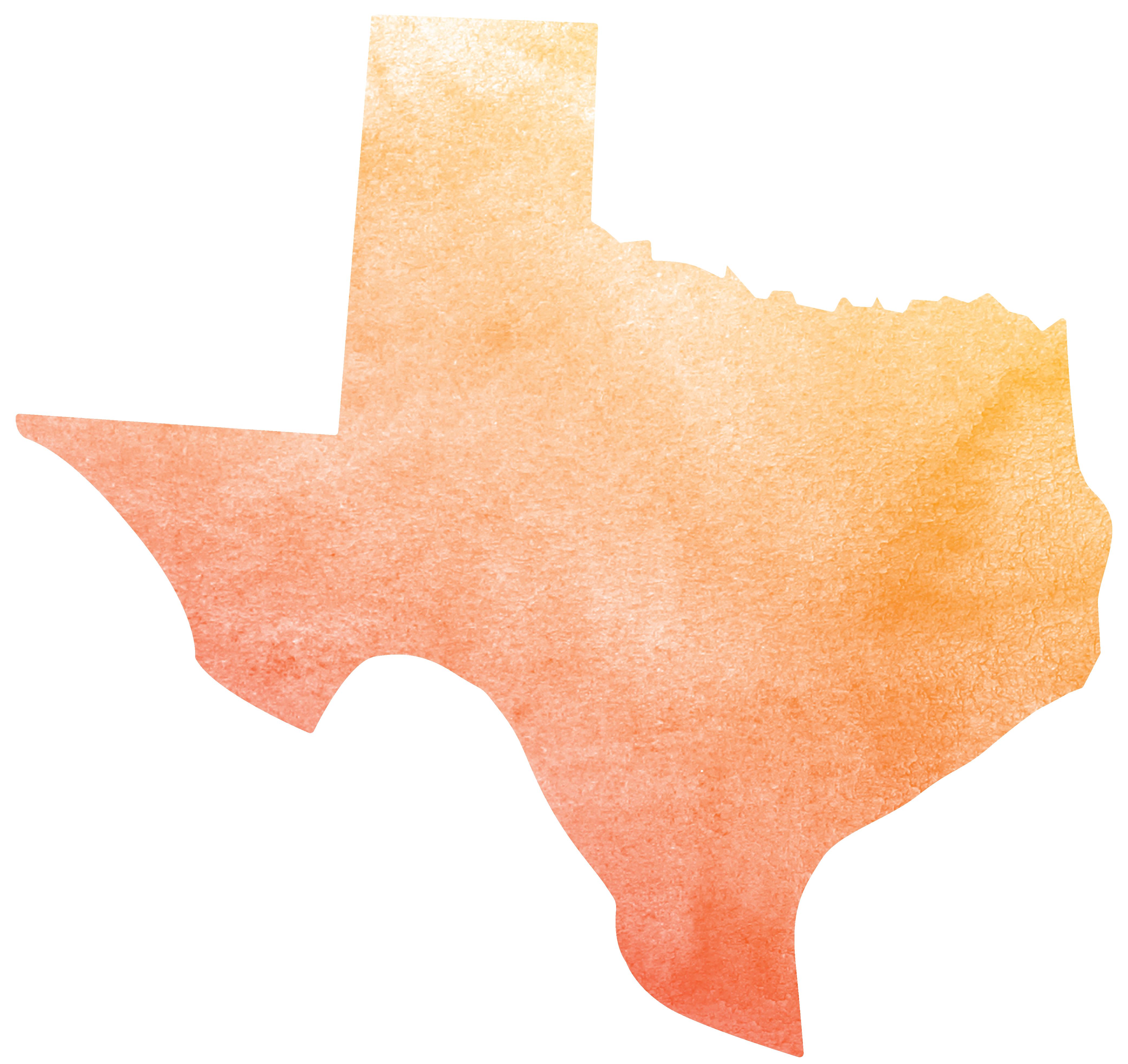 Texas icon in watercolor