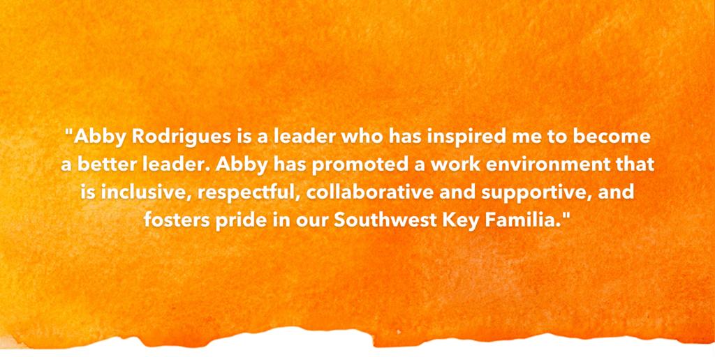 Testimonial Recognizing Abby Rodriguez