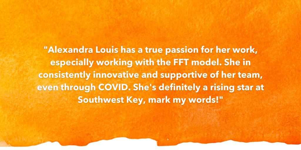SOSA Testimonial Recognizing Alexandra Louis