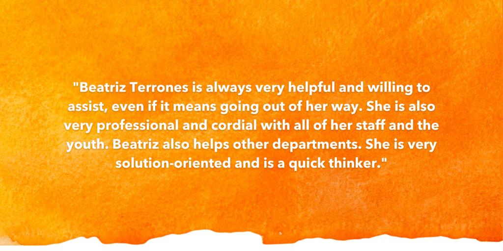 SOSA Testimonial Recognizing Beatriz Terrones