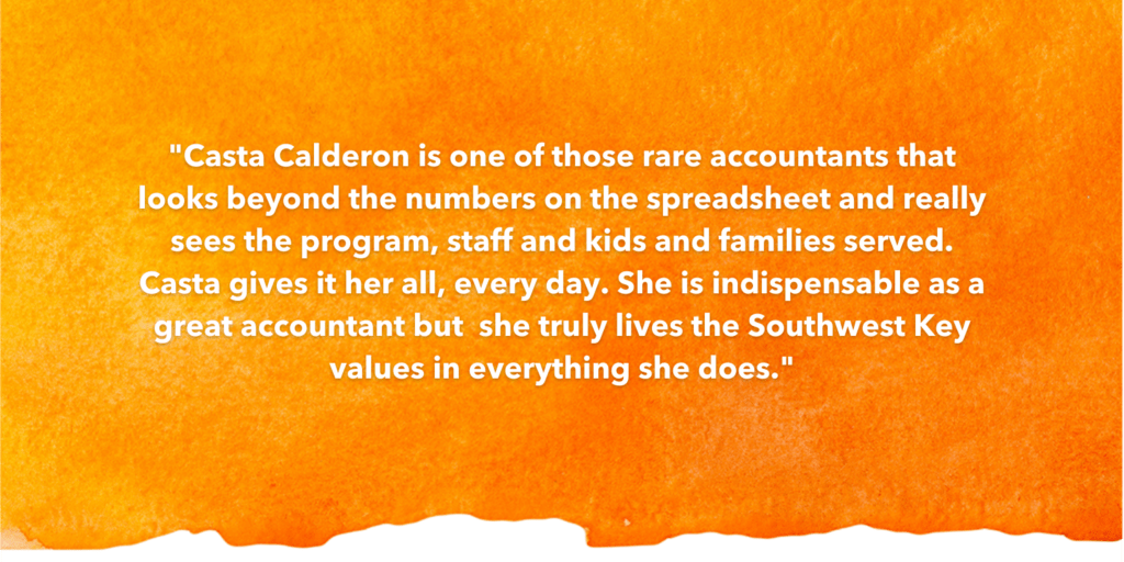 SOSA Testimonial Recognizing Casta Calderon