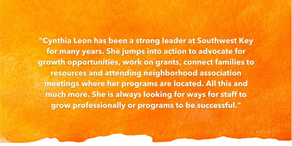 SOSA Testimonial Recognizing Cynthia Leon