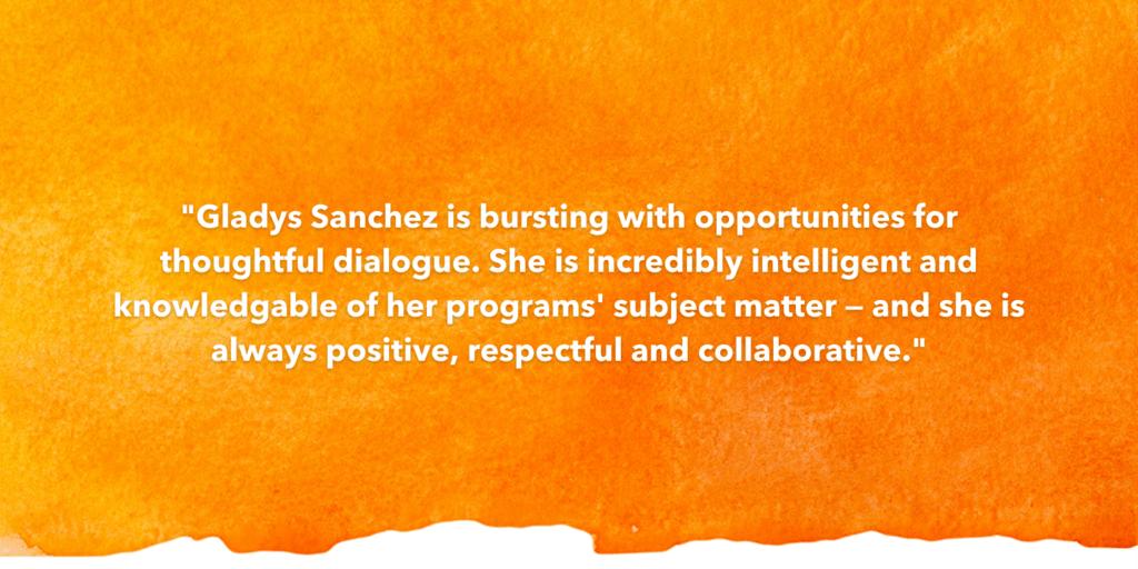 Testimonial Recognizing Gladys Sanchez