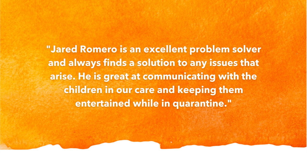 SOSA Testimonial Recognizing Jared Romero
