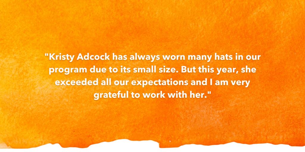 SOSA Testimonial Recognizing Kristy Adcock