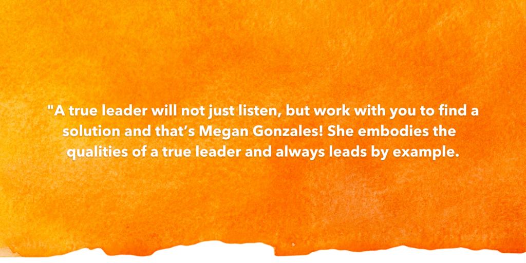 Testimonial Recognizing Megan Gonzales