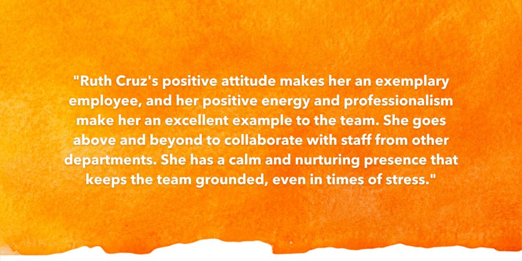 SOSA Testimonial Recognizing Ruth Cruz