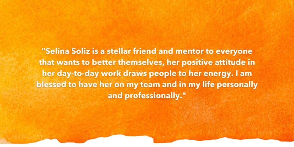 SOSA Testimonial Recognizing Selina Soliz